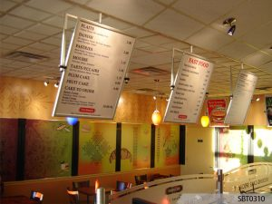 Custom indoor signs and menu boards